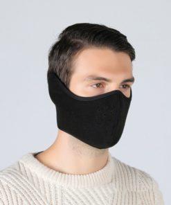 Winter Outdoor Ski Mask Cycling Warm Riding Mask Headgear Windproof Mask Ear Mask black_Free size