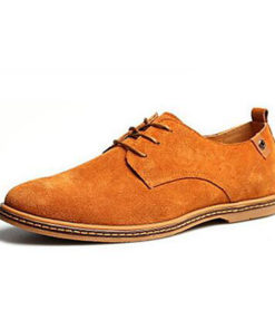 Men's Suede Shoes Leatherette Spring / Fall British Oxfords Grey / Camel / Navy / Lace-up / Comfort Shoes / EU40