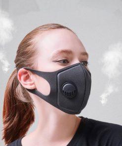 5/10PCS Washable Dust-proof and haze-proof PM2.5 breathing valve mask, sponge three-dimensional mask