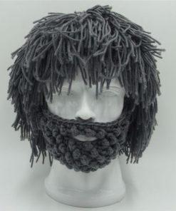 Handmade Knitted Men Winter Crochet Mustache Hat Beard Beanies Face Tassel Bicycle Mask Gift